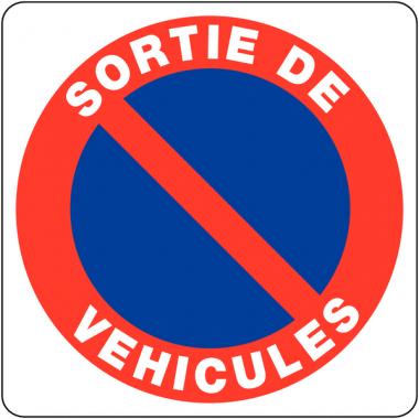 """Panneaux en PVC """"Stationnement gênant - Sortie de véhicules"""""""