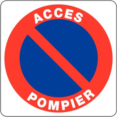 """Panneaux en PVC """"Stationnement gênant - Accès pompier"""""""