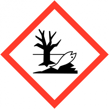 """Etiquettes de produits dangereux sur carte """"Danger pour le milieu aquatique"""""""