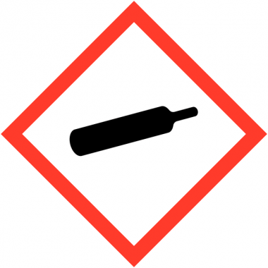 """Etiquettes de produits dangereux sur carte """"Matières gazeuses sous pression"""""""
