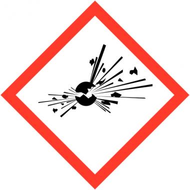 Pictogrammes CLP en papier Matières explosives GHS01