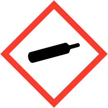 Autocollants CLP haute résistance à l'unité Gaz sous pression - GHS04