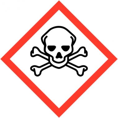 Autocollants CLP haute résistance à l'unité Toxicité aigüe catégorie 1, 2, 3 - GHS06