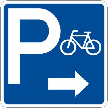 """Panneau de signalisation """"Parking vélos flèche à droite"""" rétro-réfléchissant"""