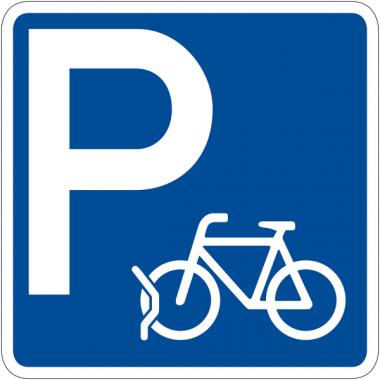 """Panneau de signalisation """"Parking vélos"""" rétro-réfléchissant"""