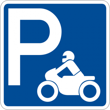 """Panneau de signalisation """"Parking motos"""" rétro-réfléchissant"""