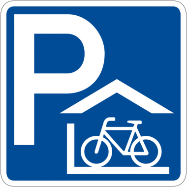 """Panneau de signalisation """"Abri à vélos couvert"""" rétro-réfléchissant"""