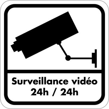 Autocollant dissuasif en vinyle - Surveillance vidéo 24h / 24