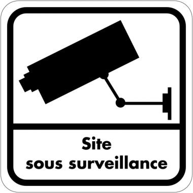 Autocollant dissuasif en vinyle - Site sous surveillance