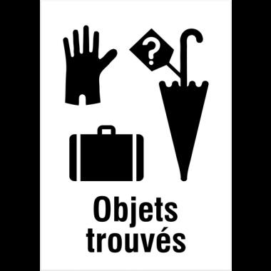 """Panneaux d'information du public """"Objets trouvés"""""""