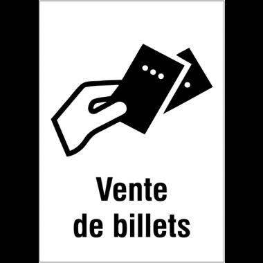 """Panneaux d'information du public """"Vente de billets"""""""