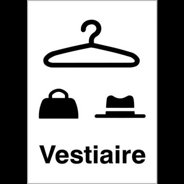 """Panneaux d'information du public """"Vestiaire"""""""