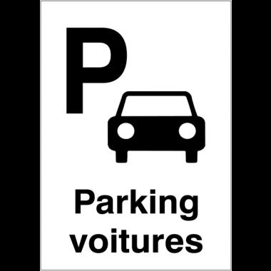 """Panneaux d'information du public """"Parking voitures"""""""