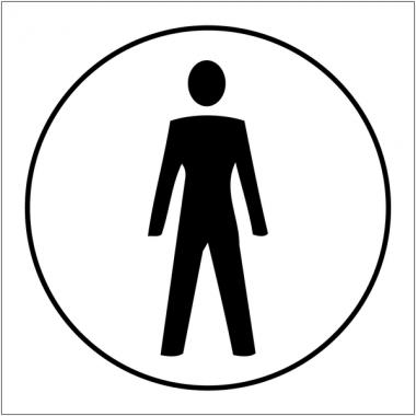 """Plaques signalétiques en relief tactile """"Toilettes hommes"""""""