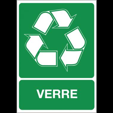 """Autocollant pour """"Tri sélectif des déchets - Verre"""""""