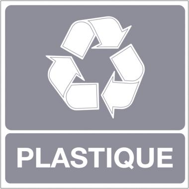 """Panneaux """"Tri sélectif des déchets - Plastique"""""""