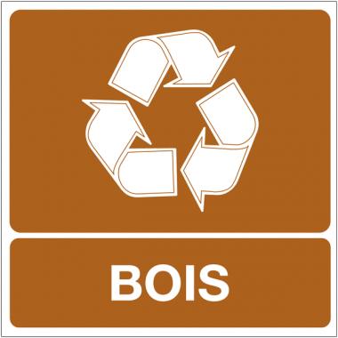 """Panneaux """"Tri sélectif des déchets - Bois"""""""