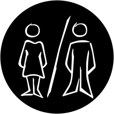 """Plaques signalétiques design """"Toilettes homme et femme"""""""