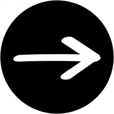 """Plaques signalétiques design """"Flèche à droite"""""""
