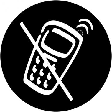 """Plaques signalétiques design """"Interdiction d'activer des téléphones mobiles"""""""