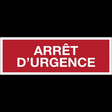 Panneaux de sécurité incendie avec texte - Arrêt d'urgence