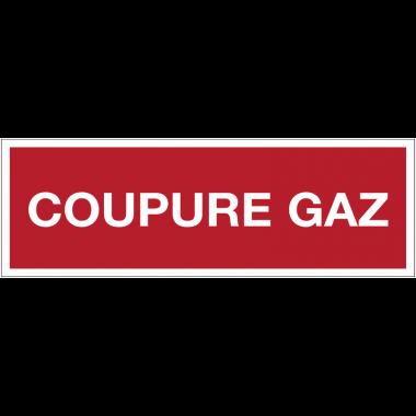 Panneaux de sécurité incendie avec texte - Coupure gaz