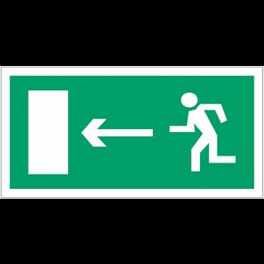 """Panneaux d'évacuation haute résistance """"Homme qui court, flèche à gauche"""""""