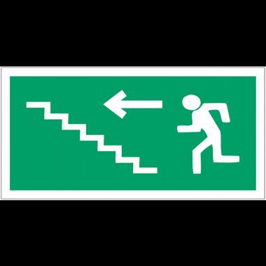 """Panneaux d'évacuation haute résistance """"Homme qui monte l'escalier, flèche à gauche"""""""
