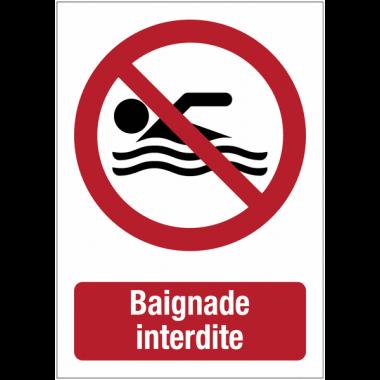 """Panneaux de signalisation autour des quais """"Baignade interdite"""""""