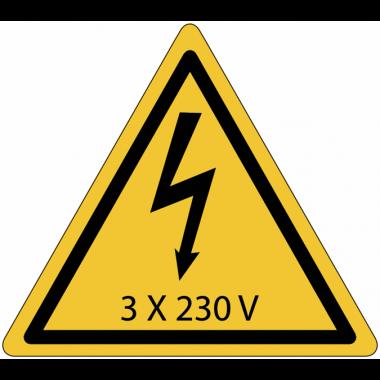 Panneaux de danger électrique - 3x230 V