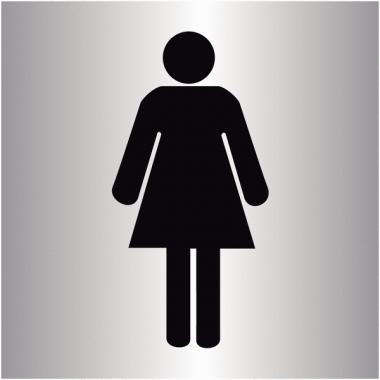 """Plaques signalétiques colorées adhésives """"Toilettes femme"""""""