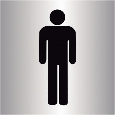 """Plaque signalétique colorée adhésive """"Toilettes homme"""""""