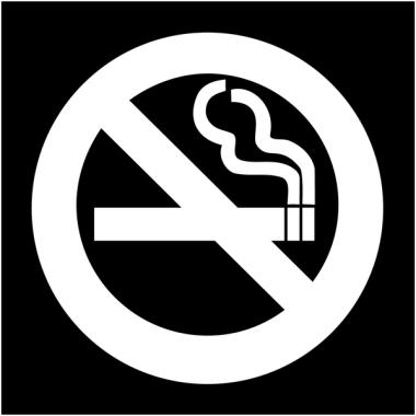 "Plaques signalétiques colorées adhésives ""Interdiction de fumer"""