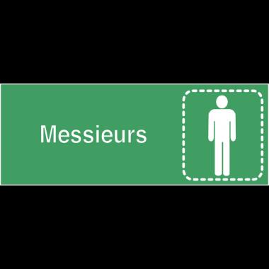 """Plaques signalétiques colorées adhésives """"Toilettes homme"""" avec texte"""