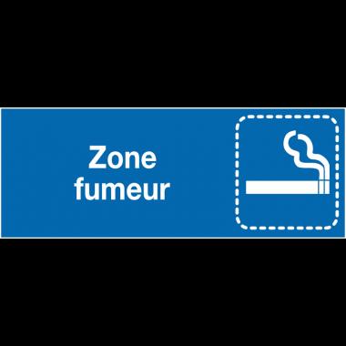 """Plaques signalétiques colorées adhésives """"Autorisation de fumer"""" avec texte"""