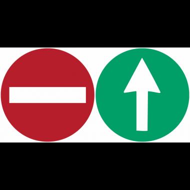 """Autocollants recto/verso pour vitres """"Sens interdit / bonne direction"""""""