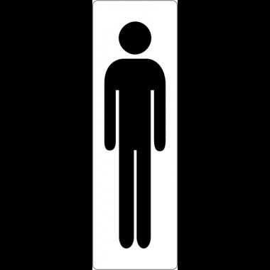 """Signalétique de porte """"Toilettes homme"""""""