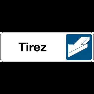 Signalétique de porte horizontale - Tirer pour ouvrir
