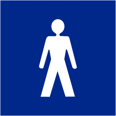 """Signalétique d'information murale ou en drapeau """"Toilettes homme"""""""