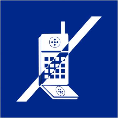 """Signalétique d'information murale ou en drapeau """"Interdiction d'activer des téléphones mobiles"""""""
