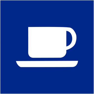 """Signalétique d'information murale ou en drapeau """"Cafétéria"""""""