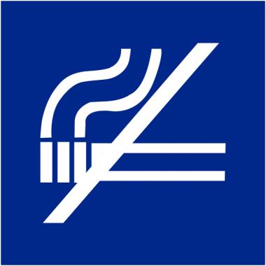 """Signalétique d'information murale ou en drapeau """"Interdiction de fumer"""""""