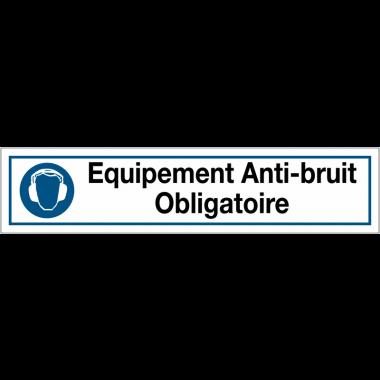 """Bandes autocollantes """"Obligation générale - Equipement anti-bruit obligatoire"""""""