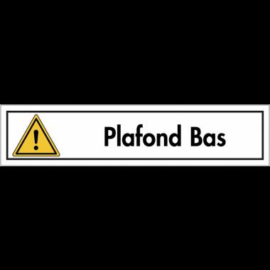 """Bandes autocollantes """"Danger général - Plafond bas"""""""