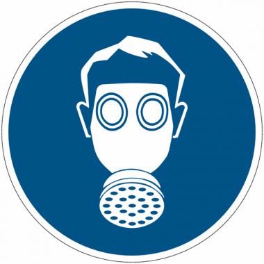 """Planches d'autocollants d'obligation """"Protection des voies respiratoires obligatoire"""""""