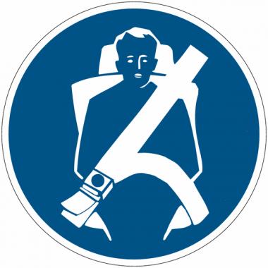 """Planches d'autocollants d'obligation """"Attacher la ceinture de sécurité"""""""