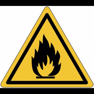 """Planches d'autocollants de danger """"Matières inflammables"""""""