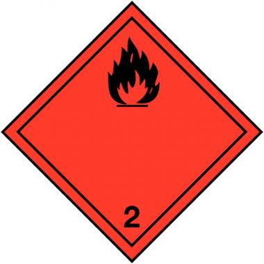 """Etiquettes de signalisation de transport international """"Gaz inflammables"""""""