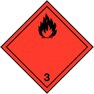 """Etiquettes de signalisation de transport international """"Liquides inflammables"""""""
