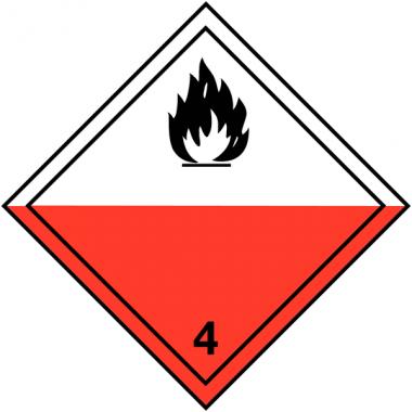 """Etiquettes de signalisation de transport international """"Spontanément inflammable"""""""